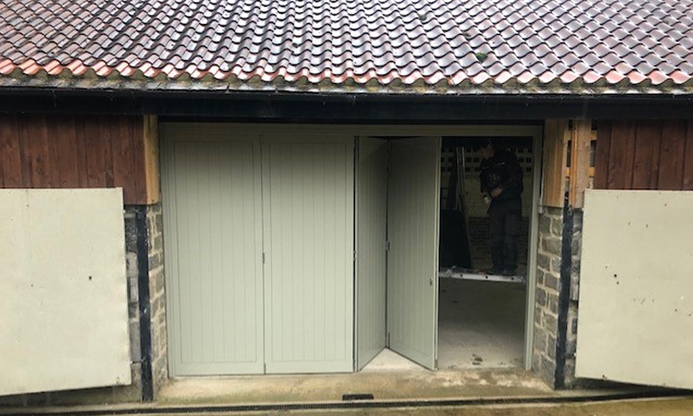 Wooden Barn / Garage Bifold Doors, Sheffield